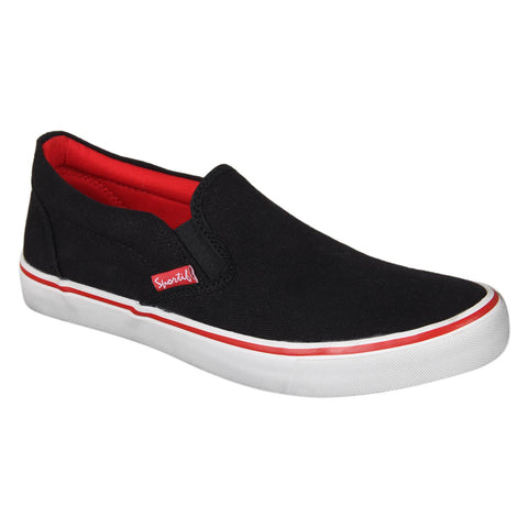 Sportif Black Red Classic RMX Slip On Sneakers