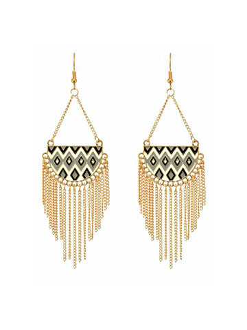 Aztec Tribal Earrings