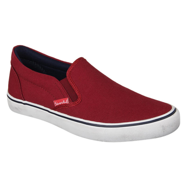 Sportif Maroon Navy Classic RMX Slip On Sneakers