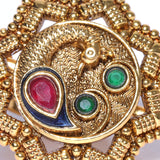 Gold Tone Ring with Multicolor Stones