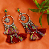 Fashion Jewellery Handmade Multi Tassel Statement Earrings