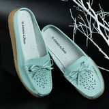Slip-on Loafer Shoes with Laser Cut Detail