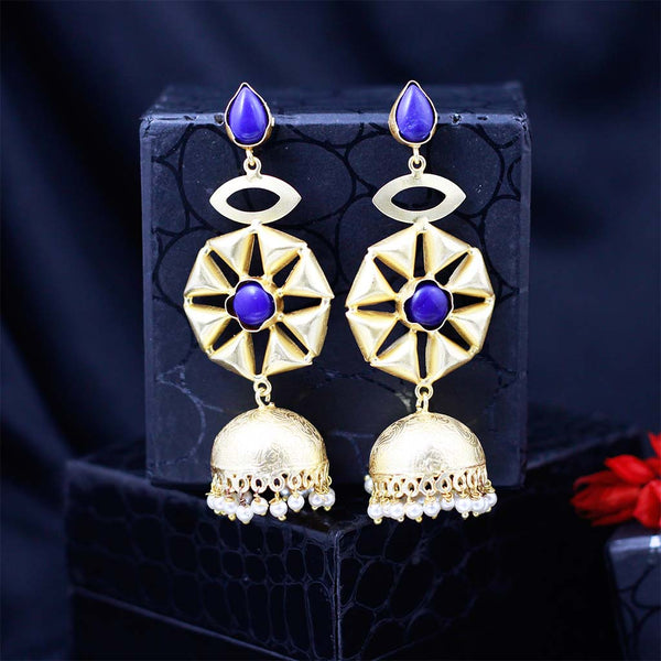 Matte Finish Star Jhumka Earrings