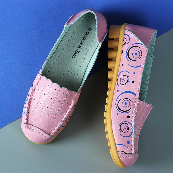 Printed Pink Slip-on Shoes