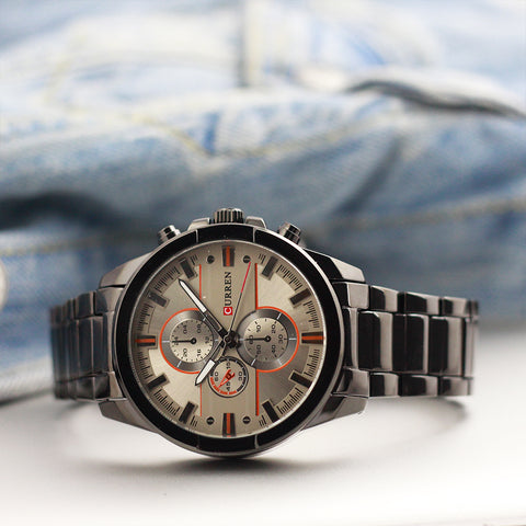 Curren Artificial Chrono Men's Steel Watch