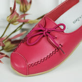 Stitch Detail Pink Lace-Up Shoes