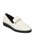 Estatos Synthetic Leather Broad       Toe Comfortable White Shoes for Women