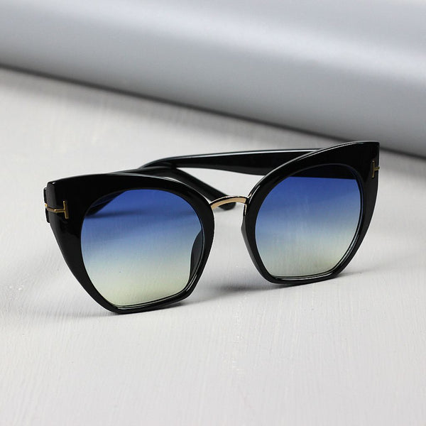 Oversized Cat Eye Sunglasses with Gradient Lens