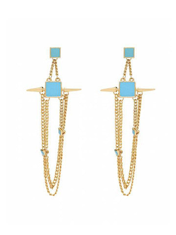 Chica Fashion Jewellery: Turq Style Earrings Blue