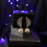 Oxidized Gold & Silver Tone Multicolor Earrings