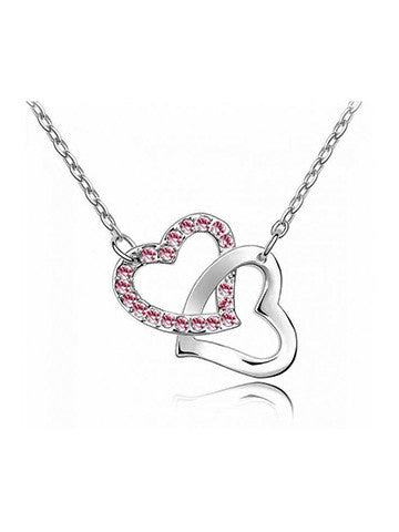 Cross Connected Heart Pendant