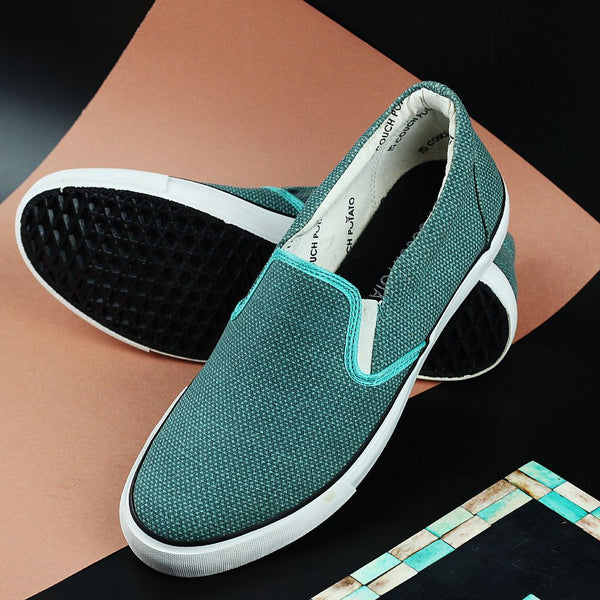 Couch Potato Basic Slip Ons - Teal