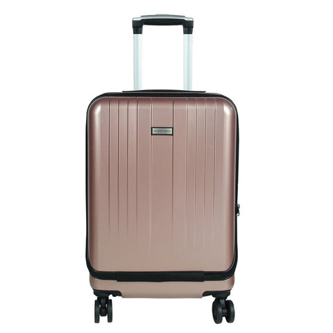 Pink Solid Trolley Bag