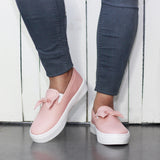 Bow Detail Women Slip On Sneakers
