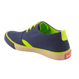 Rexona Navy Lime Lace Up Sneakers