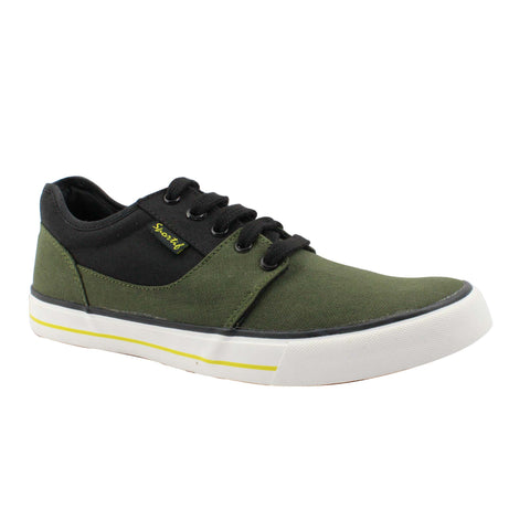 Rexona Olive Black Lace Up Sneakers