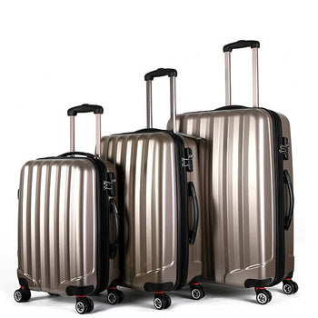 Pack Of 3 Brown Trolley Bags