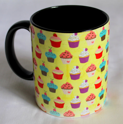 Cupcakes Print Mugs - Set Of 2