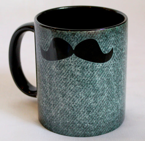 Black Mooch Print Mugs - Set Of 2