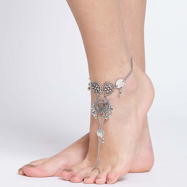 Traditional Afghani Silver Anklet for Women