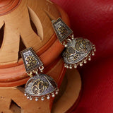 Two Tone Jhumka Earrings