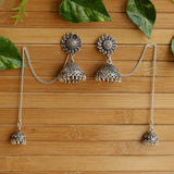 Silver Kashmiri Jhumki Earrings