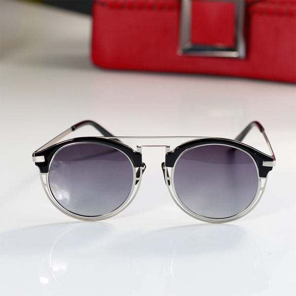 Brow Line Clear Sunglasses