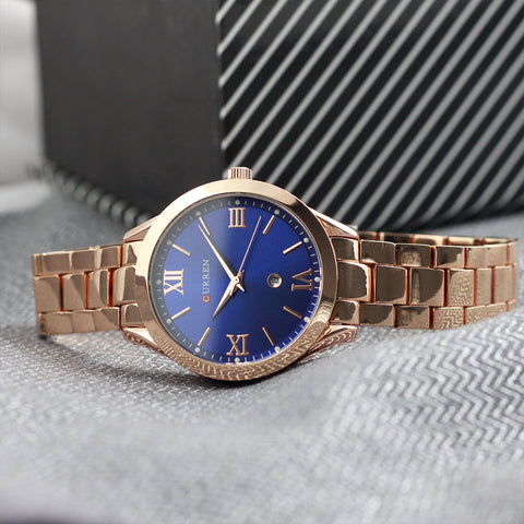 Curren Women Blue Dial Analogue Watch