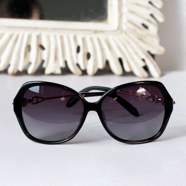 Women Oversized Sunglasses with Decorative Temples