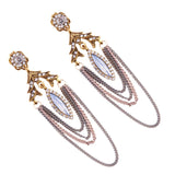Silver & Gold Multichain Earrings