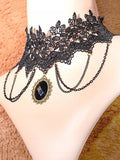 Black Lace Necklace
