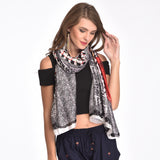 Black Printed Scarf