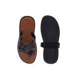 Salvadore Beige-Black Men's Multi-strap Sandals