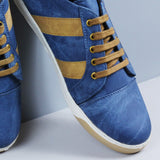 Couch Potato Quarter Detailing Sneakers : Blue