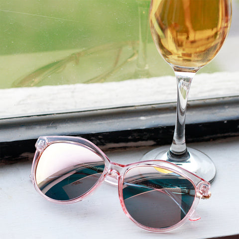 Oval Shape Mirror Lens Sunglasses