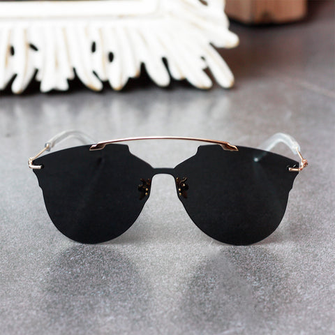 Double Bridge Oversized Sunglasses