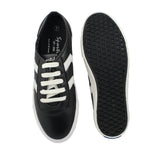 Sportif Black White Lace Up Sneakers