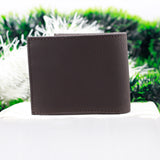 Stitch Detail Solid Brown Wallet