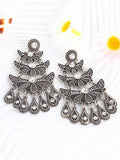 Chica Fashion Jewellery by Fizz: Oxidized Silver Dew Drop Earrings
