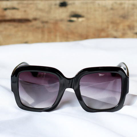 Rectangular Sunglasses with Gradient Lens