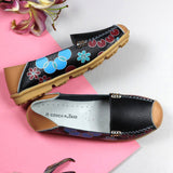 Printed Black Loafers