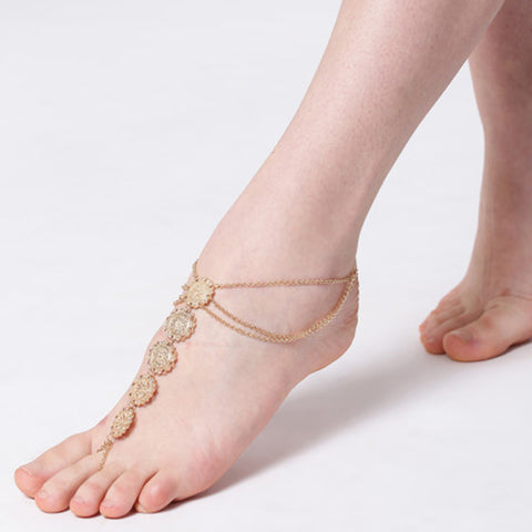 Gold Toe Ring Anklet