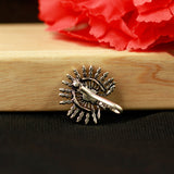 Peacock Silver Tone Nose Pin