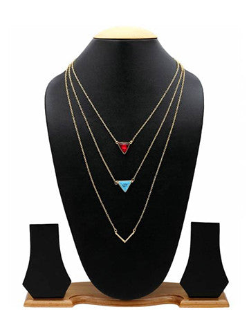 Multi Layered Drop Tassel Necklace