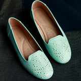 Laser Cut Detail Loafer Shoes