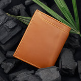 Solid Tan Wallet with External Pocket
