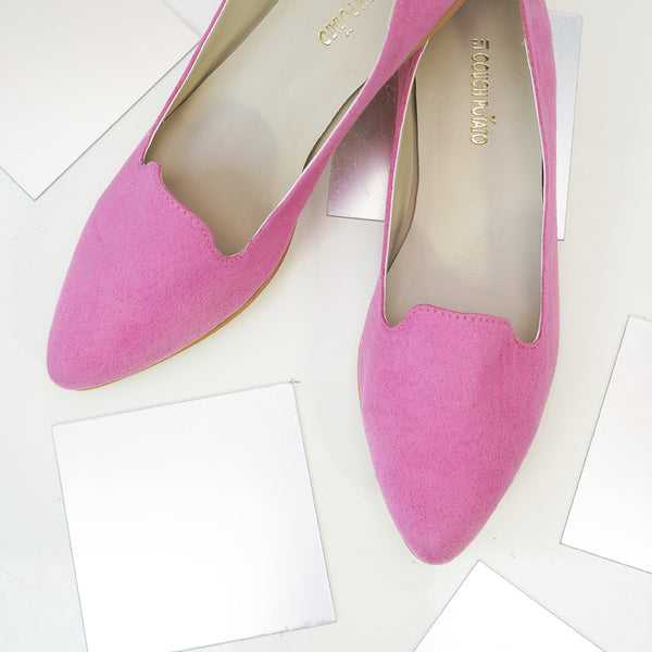 Pointed Toe Ballerinas : Pink