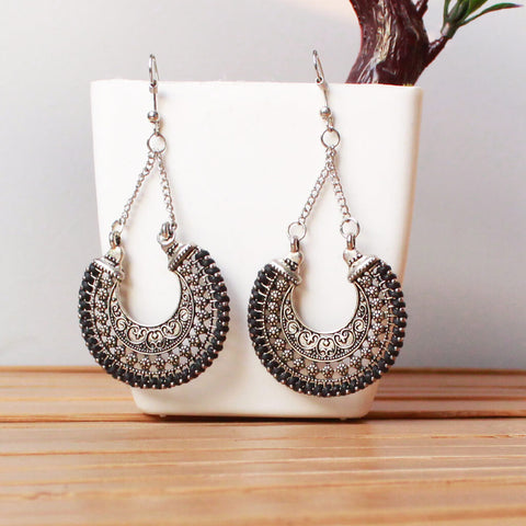 Vintage Silver Drop Earrings