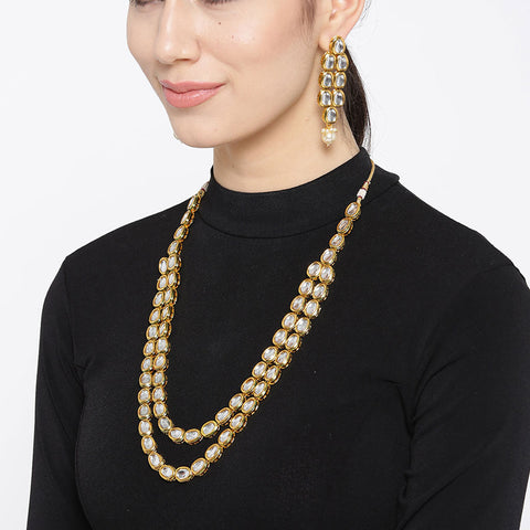Kundan Necklace Set with Earrings