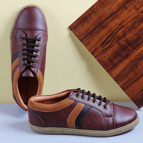 Couch Potato Sneakers With Multi Panelling : Brown